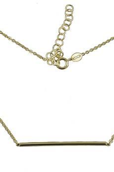 ATdiament - Srebrny pozłacany naszyjnik minimalistyczny pasek