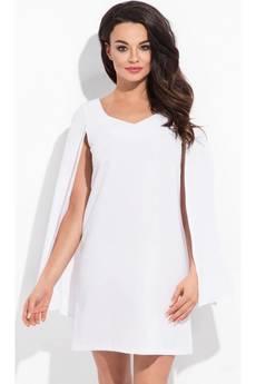 COCOVIU - New york - biała sukienka z rozciętymi rękawami