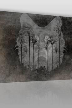 VAKU-DSGN - OBRAZ NA PŁÓTNIE - WILK LAS NATURA - (24901)