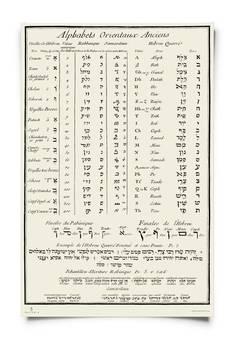 Wydawnictwo Austeria - Plakat Alfabety Orientalne: hebrajski, rabiniczny, samarytański