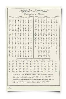 Wydawnictwo Austeria - Plakat Alfabety etiopski i abisyński