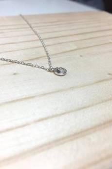 ATdiament - Srebrny naszyjnik z cyrkonią krawatka