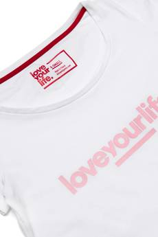 xxx-Alkopoligamia - T-shirt Damski loveyourleaf. Biały