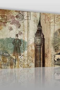 VAKU-DSGN - OBRAZ NA PŁÓTNIE - VINTAGE LONDYN - (18601)