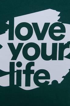xxx-Alkopoligamia - T-shirt loveyourlife. Blur Zielony