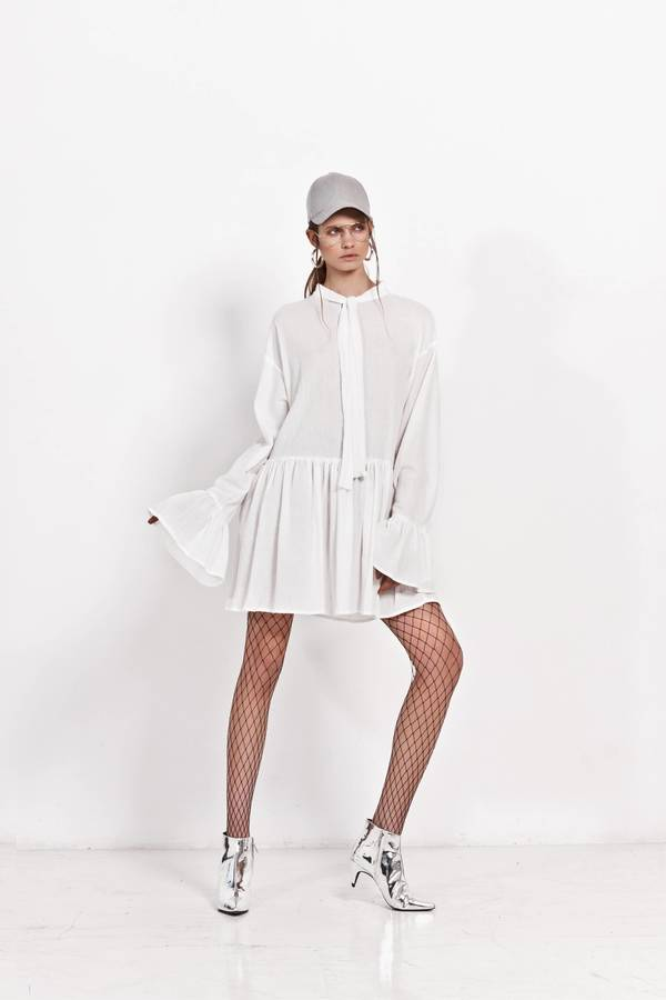 Bardzo dobra Sukienka Z Kokardą Pod Szyją - Biały   Girl Little Boy   Sukienki FK44