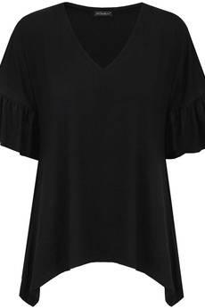 COL CLAUDINE PL - bluzka z falbankami FEMME FALBAN