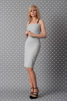 COL CLAUDINE PL - sukienka POP gray