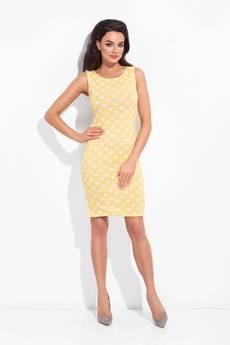 COCOVIU - sukienka sydey żółta w kropki