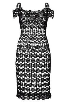 Dobrzykowska - Sukienka szydełkowa Carpe Diem w kolorze czarnym .