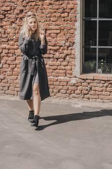 dzieńdobry - Płaszcz wełniany   Grey Wool