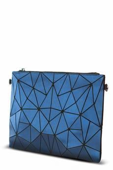 Papillon - Geometric kopertówka niebieska matowa duża