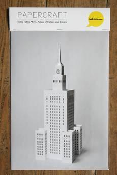 Hellowawa - model Pałacu Kultury do wycięcia i sklejenia