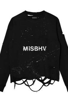 MISBHV - DISTRESSED LOGO SWEATSHIRT BLACK