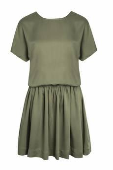 INTENSI - Sukienka khaki wiązana CELINE