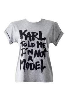 Dash My Buttons! - Karl Told Me I Am Not A Model! Grey Tee