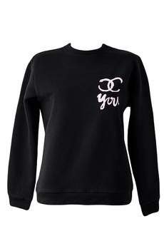 Dash My Buttons! - Chanel you! Black Sweatshirt