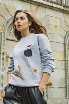 Dash My Buttons! - Hey, Karlito! Grey Sweatshirt