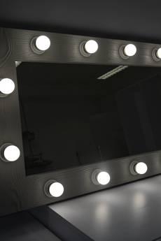 ZAP project - Lustro oświetlone do Makijażu z surowego drewna sosnowego - 40x100 cm (ROF-14)