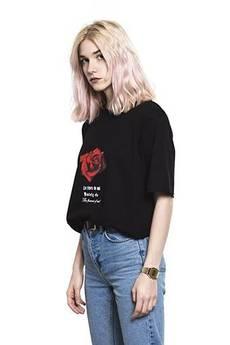 Back To Black - Evil Rose Tee