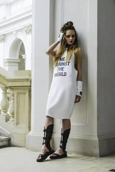 Skalny - Sukienka z napisem