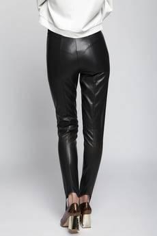 illicite wear - czarne skórzane spodnie