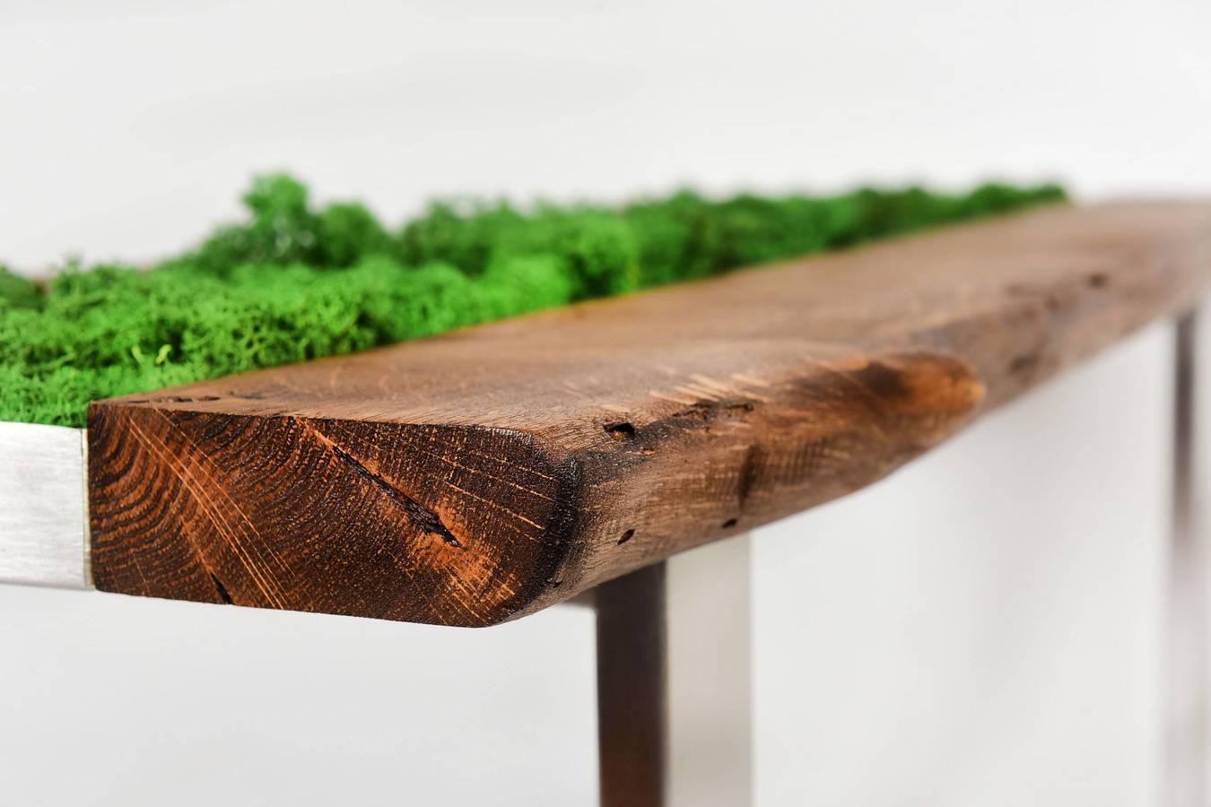 Stolik Kawowy Moss Unikatowy Drewno Dębowe Wiele