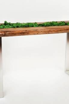 Mashoko Studio - Stolik kawowy MOSS - unikatowy, drewno dębowe
