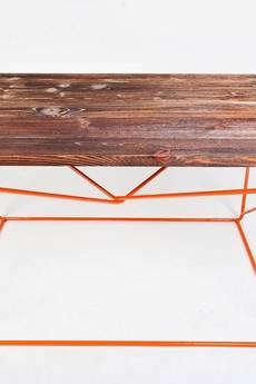 Mashoko Studio - Stolik kawowy FIMBO - unikatowy design, drewno z recyclingu