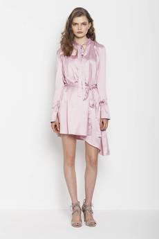 JO-LI - Sukienka satynowa z paskiem