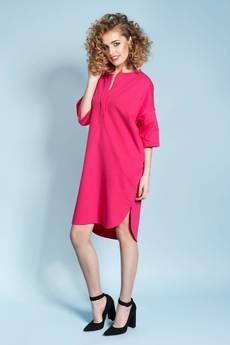 Madnezz - Magnetyczna koszulo-sukienka April - fuksjowa