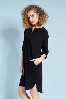 Madnezz - Magnetyczna koszulo-sukienka April - czarna