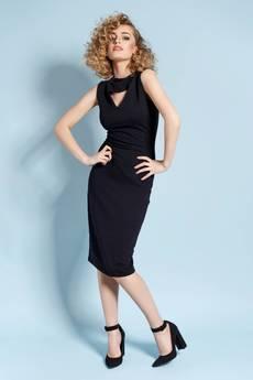 Madnezz - Zabójcza Holly - sukienka z wycięciem - czarna