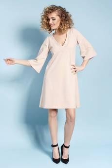 Madnezz - Eteryczna Lisa - sukienka - nude