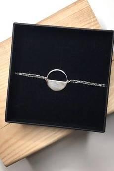 ATdiament - Srebrna pozłacana bransoletka koło