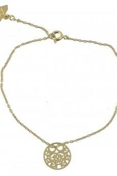 ATdiament - Srebrna pozłacana bransoletka koło ażurowe