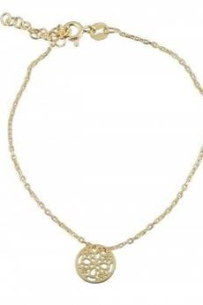 ATdiament - Srebrna pozłacana bransoletka koronkowa koła