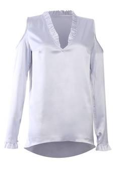 JO-LI - Bluzka z falbanką przy dekolcie