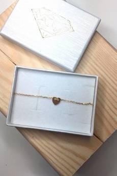ATdiament - Srebrna pozłacana bransoletka serce