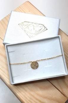 ATdiament - Srebrna bransoletka koronkowa koła