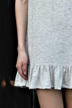 FOR HEART - Marszczona sukienka Beż