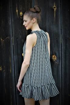 FOR HEART - Marszczona sukienka serca