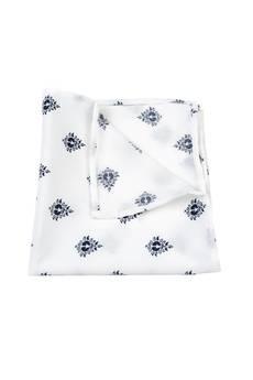 r3s men's accessories - POSZETKA JEDWABNA WHITE CLASSIC