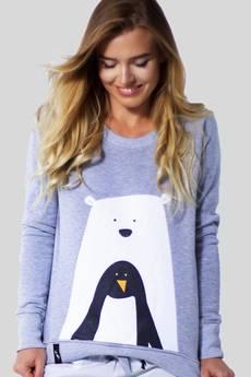 Meet The Llama - MATRYOSHKA Bear With Penguin - Bluza