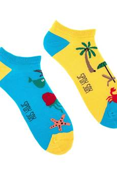 Spox Sox - Stopki Plaża i Morze - kolorowe skarpetki Spox Sox