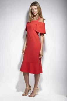 DOROTHÉ - Sukienka Sophie klasyczna czerwień elegancka