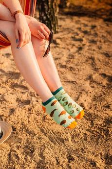 Spox Sox - Stopki Kiwi - kolorowe skarpetki Spox Sox