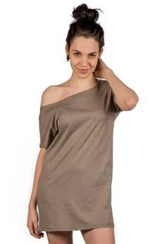 Slogan ubrania ekologiczne, etyczne i wegańskie - FADED ekologiczna tunika damska