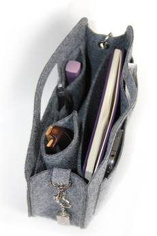 BERTONI - Organizer filcowy do torebki Kleks