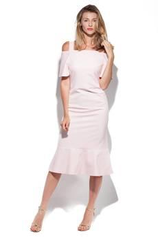 DOROTHÉ - Sukienka Sophie z falbankami pastelowy róż